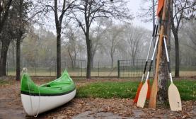 Una delle canoe a disposizione del Gruppo Scout