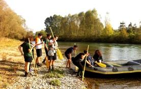 Discesa fluviale in Gommone