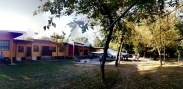 La struttura e l'aia interna alla Colonia