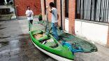Recupero delle tre canoe canadesi dal Cremona2