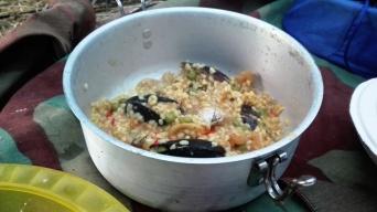 Gara di cucina a suon di riso al pesce